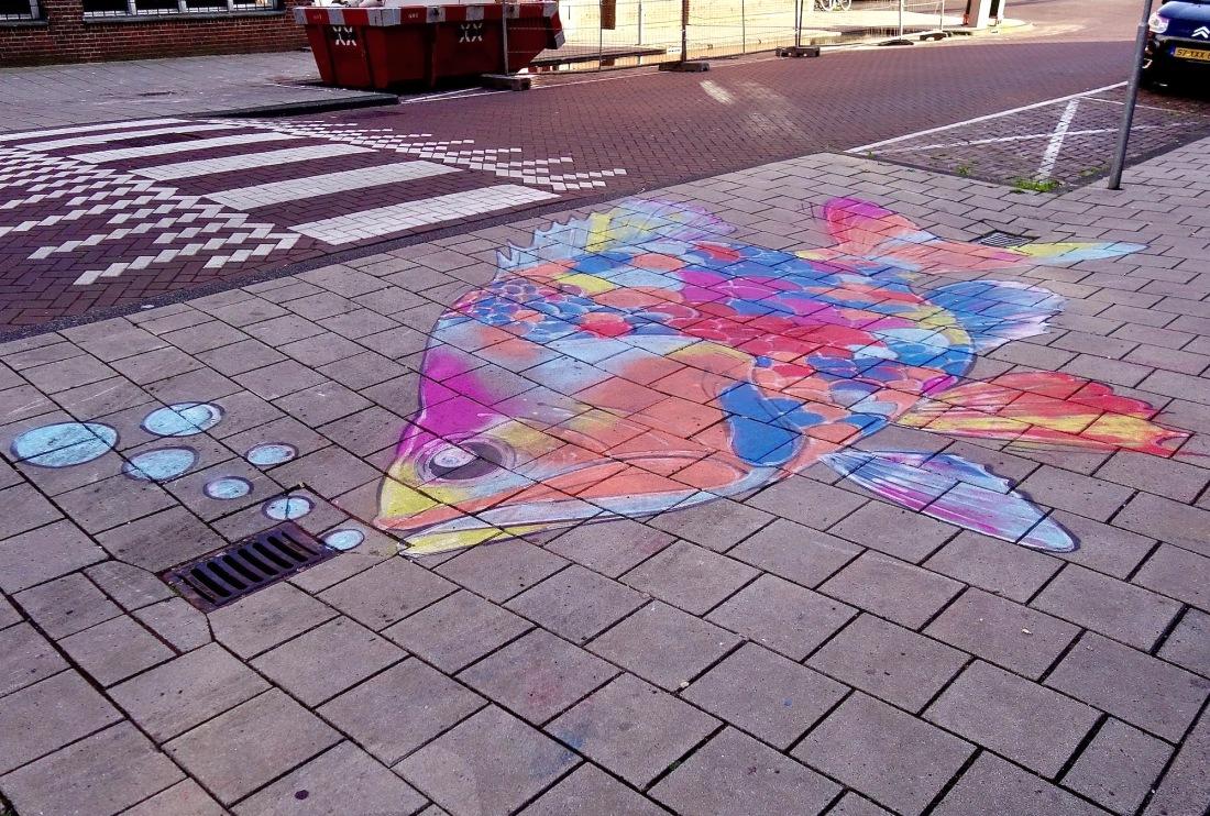 straatkunst-stoepvis - 1
